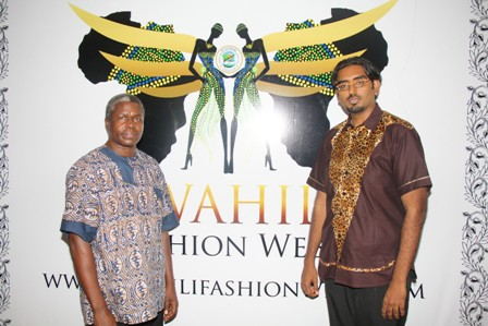 Founder_of_Swahili_FashionWeek_Mustafa_Hassanali_with_the_Executive_Secretary_of_The_National_Arts_Council_Ghonche_Materego_on_the_Press_Conference_of_the_Launch_of_Swahili_Fashion_week_at_Southern_Sun_29th-09-2011