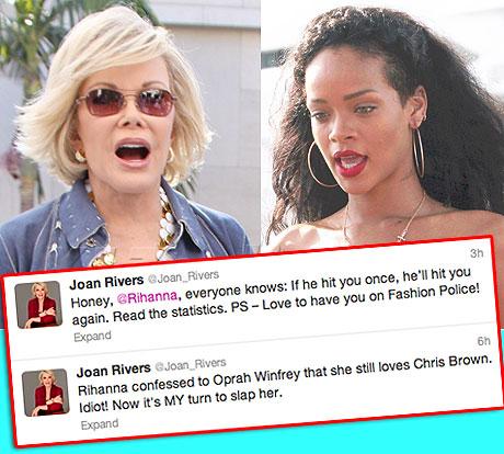 Photo of Joan Rivers wa Fashion Police amponda Rihanna kuendelea kumpenda Chris Brown