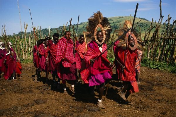 Masai Men Dancing