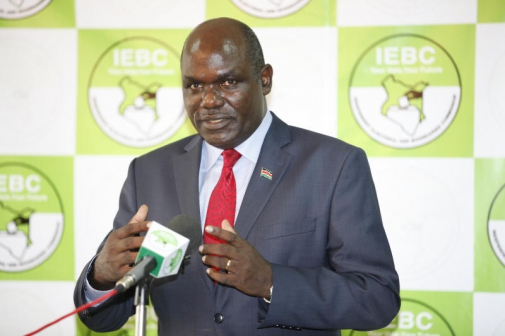 Photo of IEBC chairperson notice to campaigners