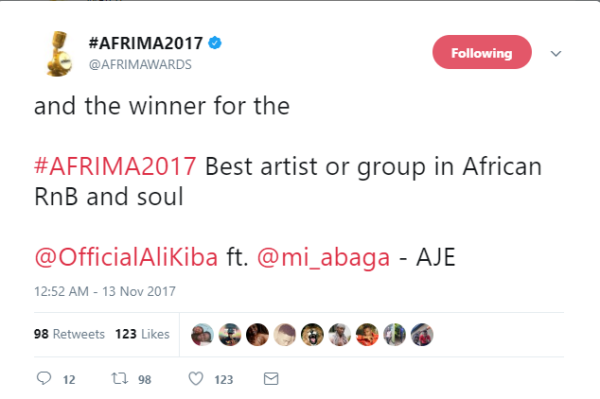 No win for Ghana at All Africa Music Awards 2017; AFRIMA