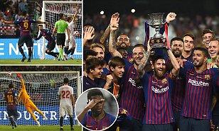 Barcelona yatwaaSpanish Super Cup, Messi akiweka rekodi