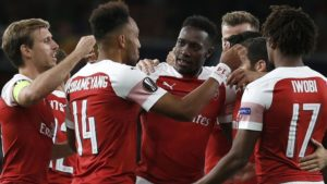 Aubameyang ang'ara, Arsenal yaishushia kipigo kitakatifu Vorskla Poltava