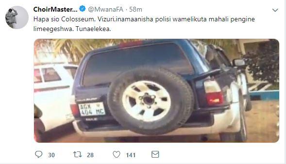 Mwana FA, Zitto Kabwe wahoji kuhusu picha ya gari inayodaiwa kumteka Mo Dewji 'Kamanda Sirro hapana'