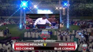 """Photo of Ngumi: Mfaume Mfaume atema cheche baada ya kumtwanga Keisi Ally """"Yoyote atakayekuja nampiga kwa KO"""" (+Video)"""